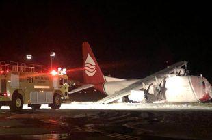 C-130 Hercules Transport Aircraft Crash Landed At Santa Barbara Airport
