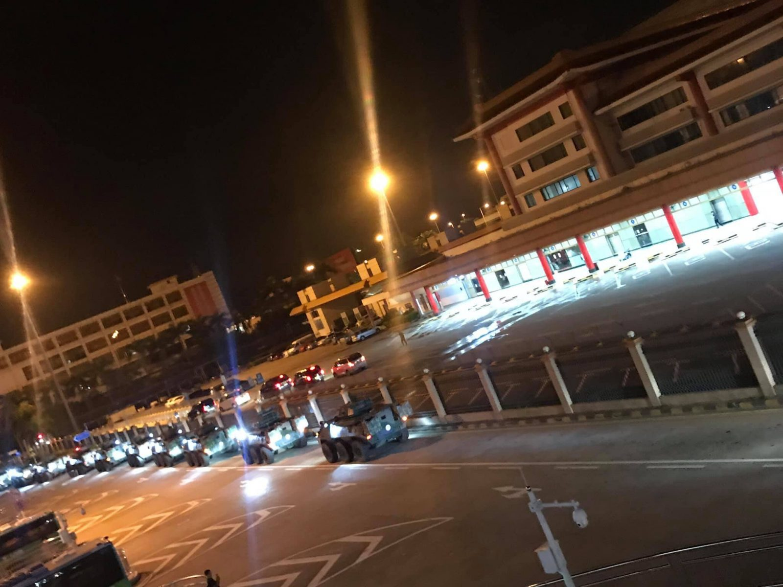 Videos of 50 Plus Chinese armored vehicles enter Hong Kong emerges on social media