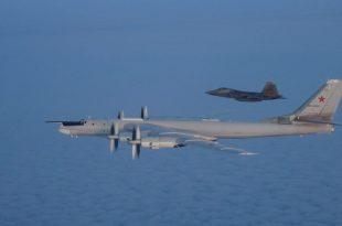 U.S. Air Force F-22s and Canadian Air Force CF-18s interceped Russian Tu-95 Bear bombers