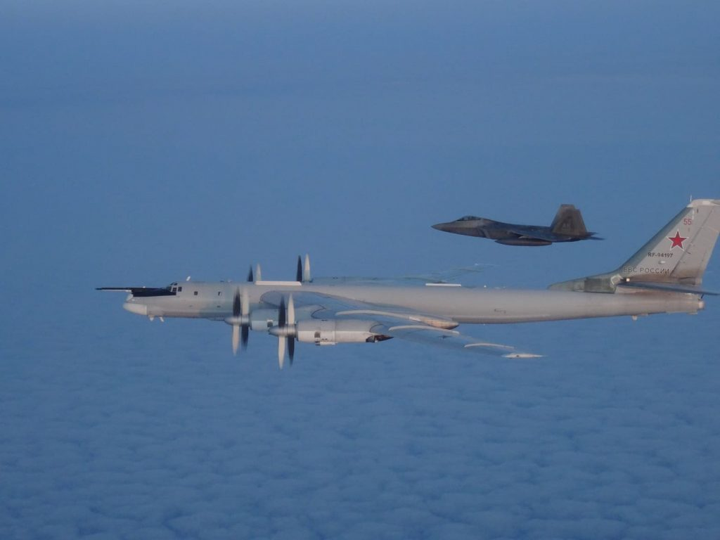 U.S. Air Force F-22s and Canadian Air Force CF-18s interceped Russian Tu-95 Bear bombers