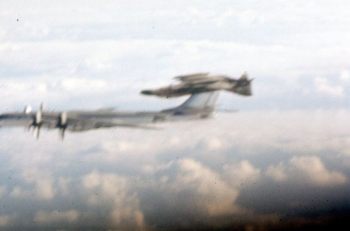 That time U.S. Air Force F-4 Phantom flew inverted during an intercept mission on a Russian Tu-95 Bear bomber