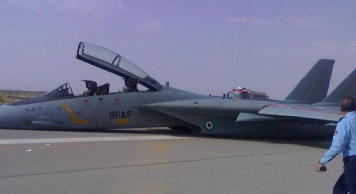 Iran Air Force F-14A Tomcat crashed after a technical issue during a training mission