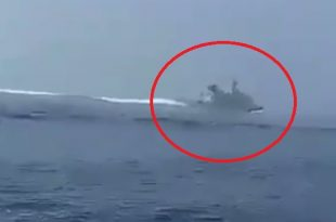 Iranian Navy Released Footage of Royal Navy destroyer chased down by IRGCN fast attack boats