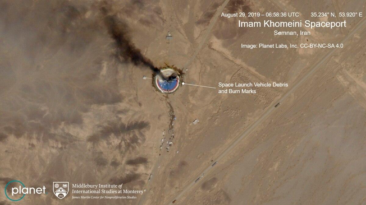 Iran satellite launch failed? Satellite photos show burning Iran space center launch pad