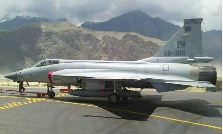 Pakistan Air Force deploying JF-17 fighter jets at Skardu Forward operating base near Ladakh