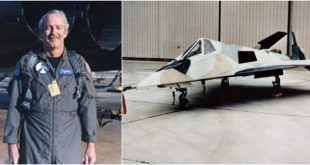 The First Man To Fly Have Blue & Tacit Blue Experimental Stealth Aircraft, Passed Away
