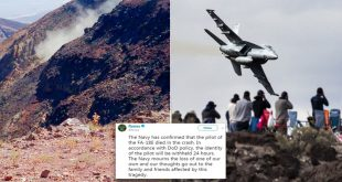 U.S. Navy Releases Findings In 2019 F/A-18E Super Hornet Crash In Star Wars canyon