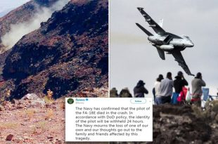 U.S. Navy Declares Pilot Dead In F/A-18E Super Hornet Crashes in Star Wars Canyon