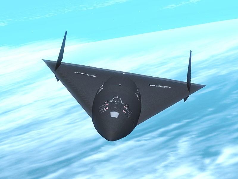 An artist's conception of the Aurora aircraft