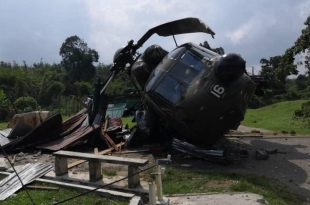 Royal Malaysian Air Force Sikorsky S-61A-4 Nuri helicopter makes emergency landing in Kedah