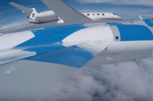 "Video Shows Starfighters TF-104 Intercept and Escort ""One More Orbit"" G650ER World Record Flight To NASA's KSC"