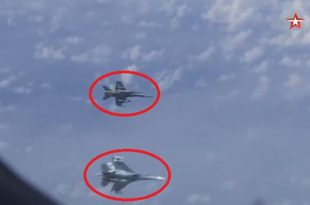 Russian Su-27 shooed Spanish EF-18 Hornet away from plane carrying Russia's defense minister