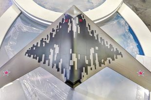 Russia Unveiled Stealthier Vision Of Sukhoi's S-70 Hunter-B (Okhotnik-B) UCAV at MAKS Air show