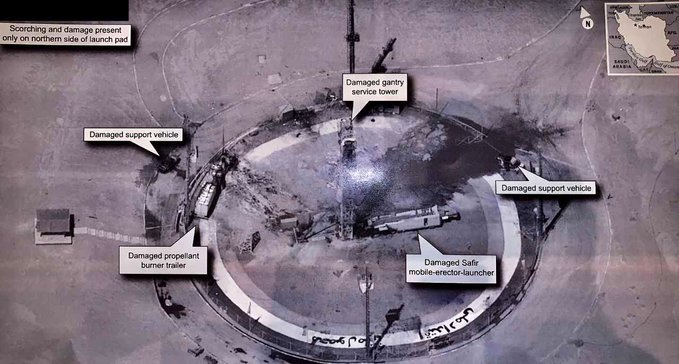 Trump Tweets Intelligence Image of Iran rocket site and says US 'not involved' in failed launch