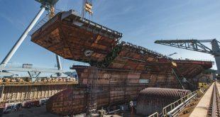 U.S. Navy New $12 Billion Aircraft Carrier USS John F Kennedy Gets Its Flight Deck