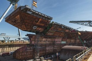 U.S. Navy New $12 Billion Aircraft Carrier USS John F Kennedy Gets Its Flight Deck