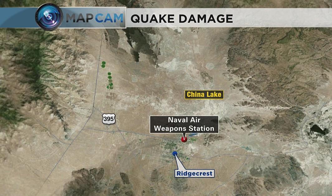 U.S. Navy Needs $5 Billion To Repair Damaged China Lake Base After Earthquakes