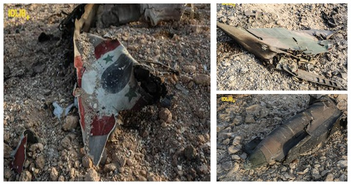 Photos and Videos of Syrian Air Force warplane shoot down by Syrian Rebels
