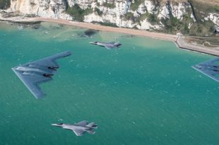 U.S. Air Force B-2 Spirit Bombers Conduct Joint Training With RAF F-35B Jets For the first time