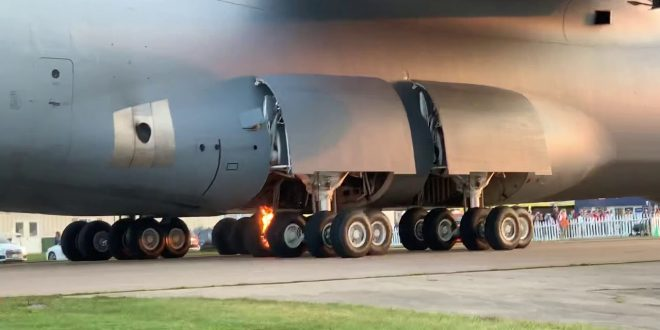 U.S. Air Force Invented A New Tool To Change The 28 Tires On C-5M Super Galaxy