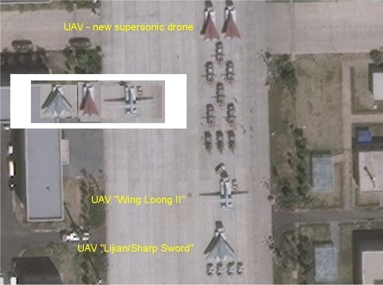Satellite Photo Shows China Set To Unveil New High-Speed Drone During Military Parade In Beijing
