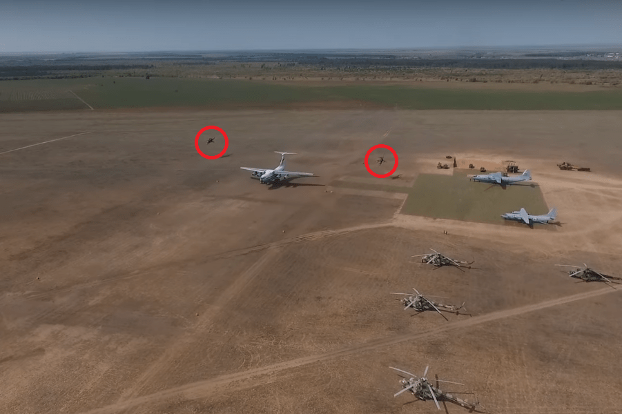 Video Features Russian Il-76MD Performing Tactical Landing On Dirt Strip Escorted By Mi-24s