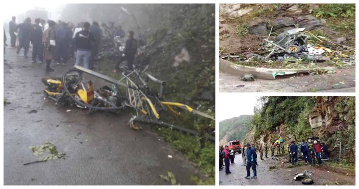 Indian Army HAL Chetak Helicopter Crashes In Bhutan, Both Pilots Dead