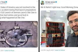 Iran IT minister taunts Trump by showing off undamaged satellite linked to the explosion at a rocket test site