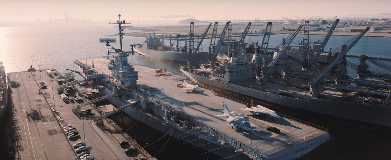 Porsche Taycan at USS Hornet aircraft carrier: 0-90-0 MPH In 10.17 Seconds (Video)