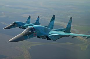 Two Russian Air Force Sukhoi Su-34 fighter jets collided midair over Russian city of Lipetsk