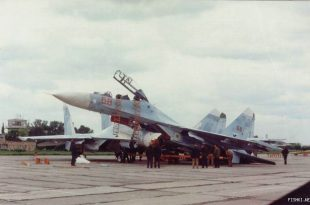 Su-27 Mirgorod Pyramid: watch ukrainian flanker collided with two other Su-27s parked at Mirgorod Air Base