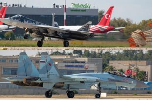 Russia Su-57 and Su-35 Fighter Jets lands In Turkey for Technofest