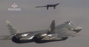 Russian MOD Released Video Of New Su-70 Okhotnik-B UCAV Flying With Su-57 For The First Time