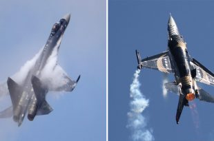"""Turks Called F-16 """"Junk"""" After Watching The Russian Su-35 In Action At Technofest 2019"""