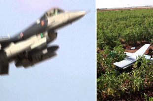 Turkish F-16 Shot Down Unidentified Drone That Violated Turkish Airspace Near Syrian Border