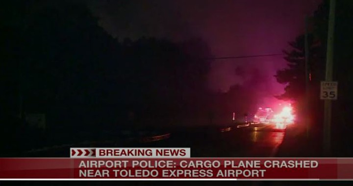 Cargo plane crashes near Toledo Express Airport