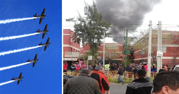 Chilean Air Force Halcones aerobatics team Aircraft crashed into a residential area of El Bosque in Chile
