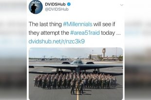 DoD Deletes Tweet That Joked About Bombing Millennials Trying To Storm Area 51
