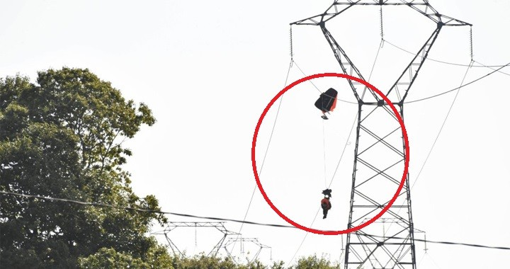Belgian F-16 Pilot Was Trapped On High-Voltage Power Lines By His Parachute After Ejection