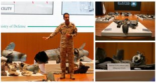 Saudi Ministry of Defense Released Photos Of Drones & Missiles Wreckage Used In Abqaiq–Khurais attack