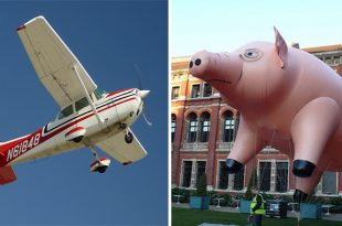 Pilot Claims He Was Buzzed By A Huge Flying Pig With Six Rotors On Its Back At 1900 ft