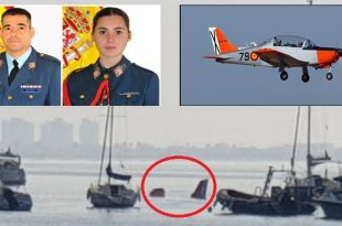 Spanish Air Force Training Aircraft Crashed Into The Sea Killing Instructor & Student