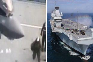 Watch: F-35 Pilot Falls Flat On Face After Landing On New Aircraft Carrier