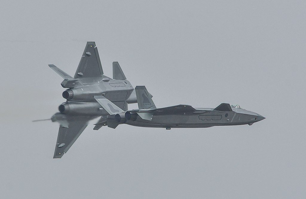 Six PLAAF Fighter Jets  Dangerously Surround Two Taiwan Air Force Jets