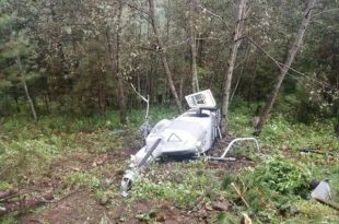 Mexican Air Force Bell 206L LongRanger Helicopter Crashes in Tamazula Leaves Pilot Dead