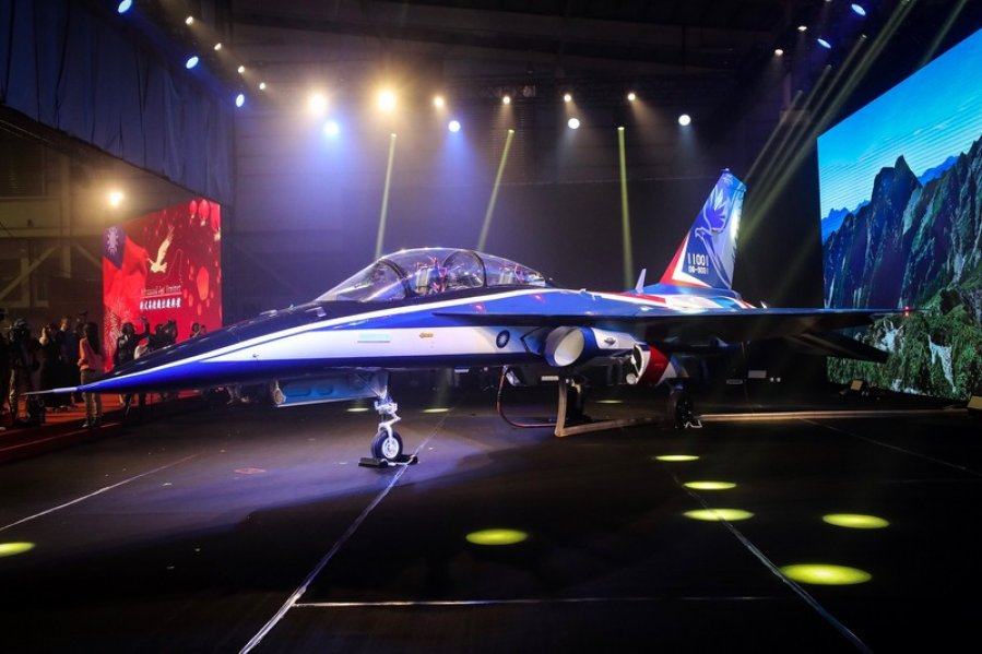 "Taiwan Unveils New Indigenous Advanced Jet Trainer Named ""Yung Yin"""