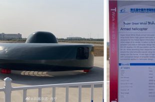 China Unveiled New UFO-like Helicopter Dubbed 'Super Great White Shark'