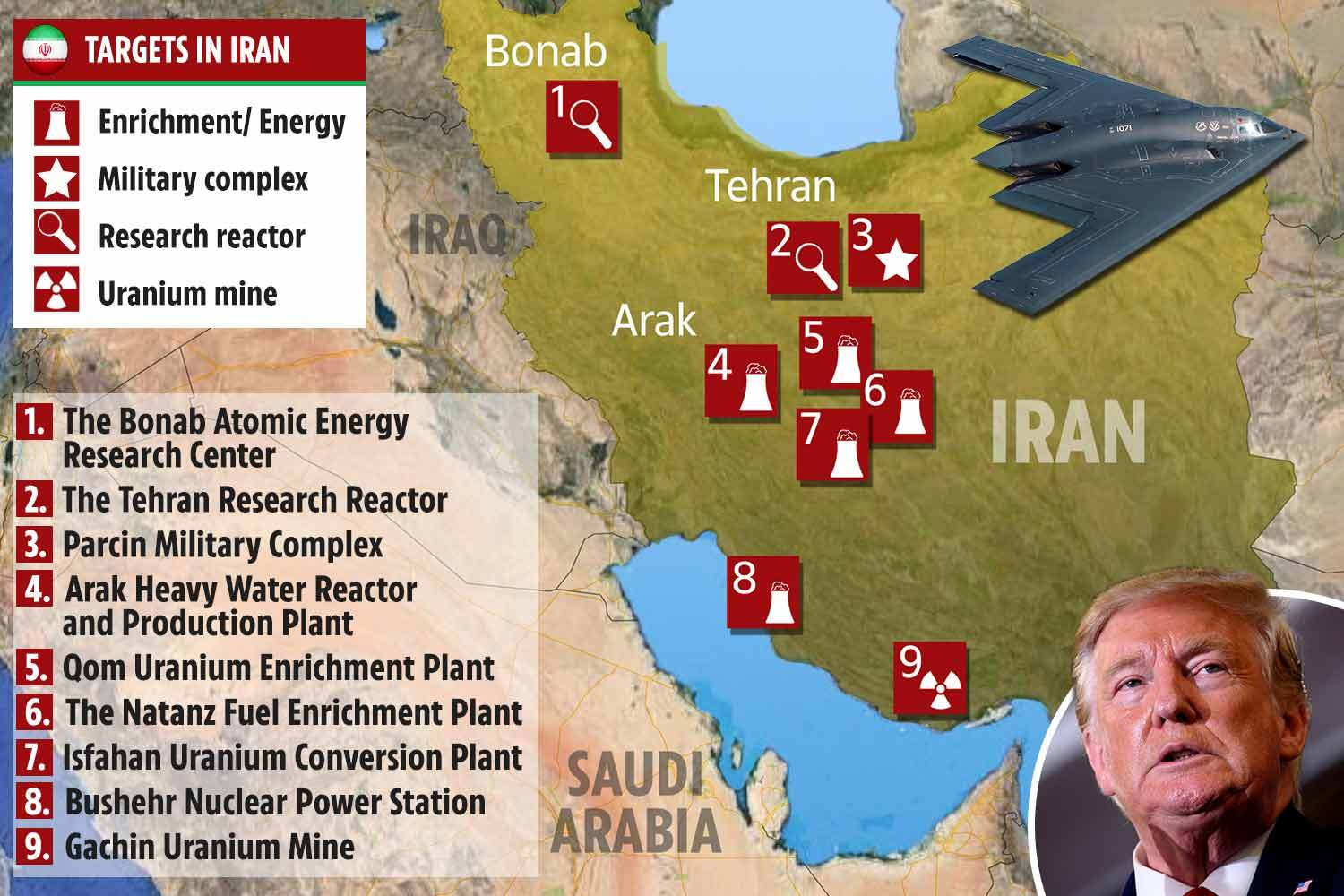 Leaked Pentagon 'war plan' shows how U.S. could destroy Iran overnight in shock and awe attack