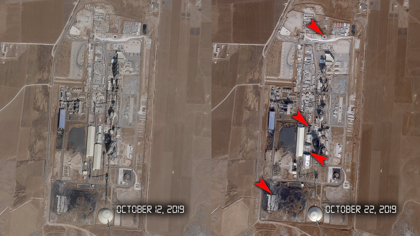 Satellite Imaginary Raises Question On The Impact Of F-15s Bombing On Coalition Headquarters