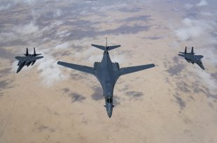 U.S. Deploys Tanks, B-1B Bombers & Additional F-15 Fighter Jets To Middle East